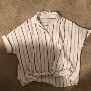 NWT Madewell striped button-up